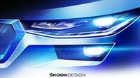Tři skici faceliftované Škody Kodiaq