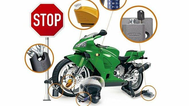 zabezpečení motocyklu