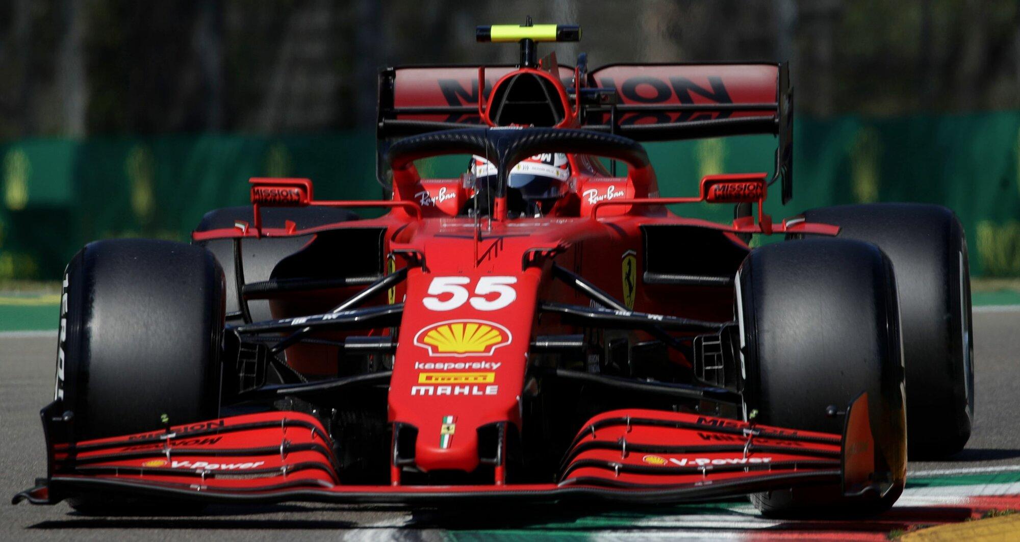 Carlos Sainz s Ferrari