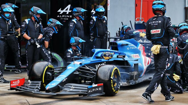 Fernando Alonso - závod na Imole