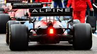 Fernando Alonso po závodu v Imole