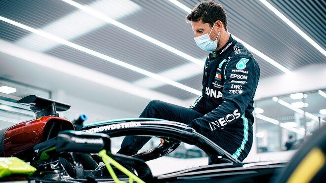 Romain Grosjean se chystá na svou jízdu s Mercedesem F1