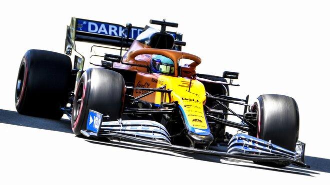 Daniel Ricciardo během kvalifikace v Barceloně