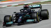 Lewis Hamilton - kvalifikace v Barceloně