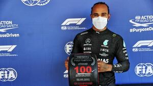 FOTO: Kvalifikace v Barceloně - Hamiltonovo 100. pole position - anotační obrázek