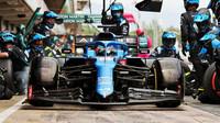 Fernando Alonso - závod v Barceloně