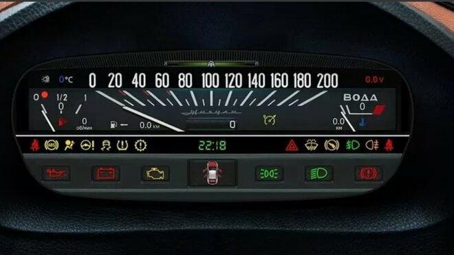 Digitální přístrojový panel ve stylu Lady 2101
