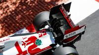 Alfa Romeo C41 - Ferrari při čtvrtečním tréninku v ulicích Monaka