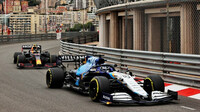 George Russell a Sergio Pérez - kvalifikace v Monaku