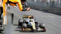 Lando Norris v cíli závodě v Monaku