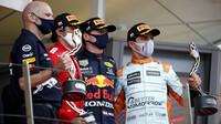 Tři nejlepší jezdci po závodě v Monaku