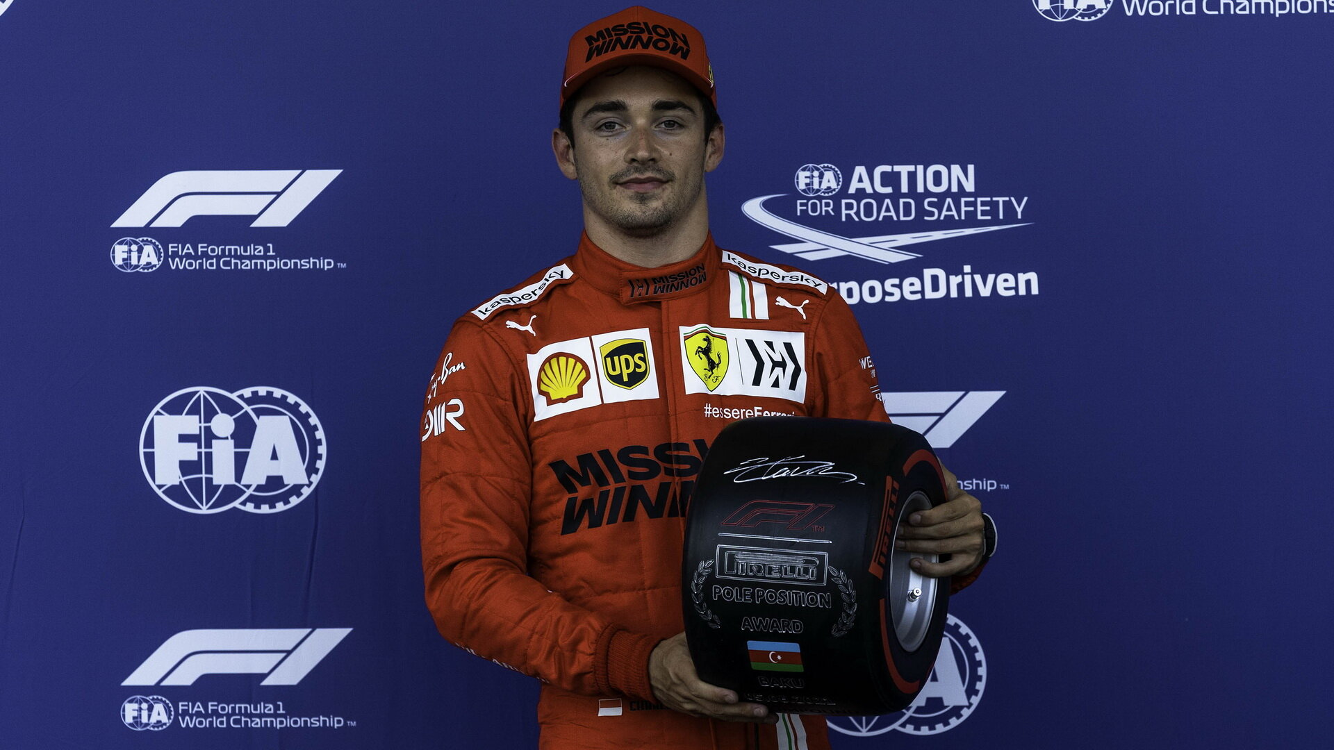 Charles Leclerc po sobotním triumfu v kvalifikaci