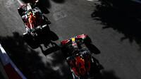 Max Verstappen a Sergio Pérez - kvalifikace Baku