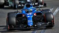 Fernando Alonso - závod v Baku