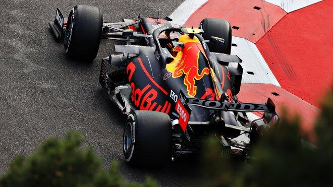 Sergio Pérez s Red Bullem v Baku konečně vyhrál