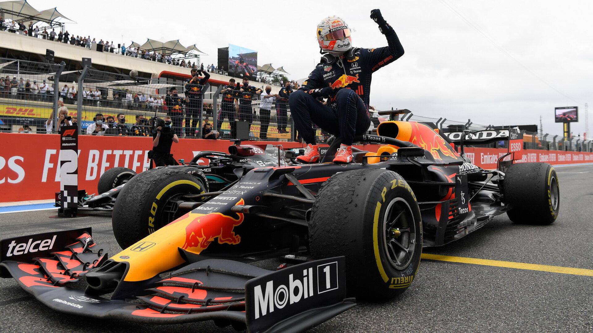 Max Verstappen vítěz závodu ve Francii
