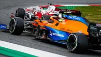 Kimi Räikkönen a Lando Norris - závod v rakouském Štýrsku