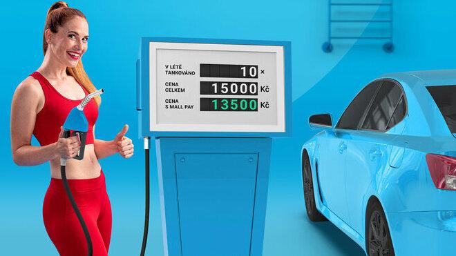 O desetinu levnější pohonné hmoty s kartou MALL Pay
