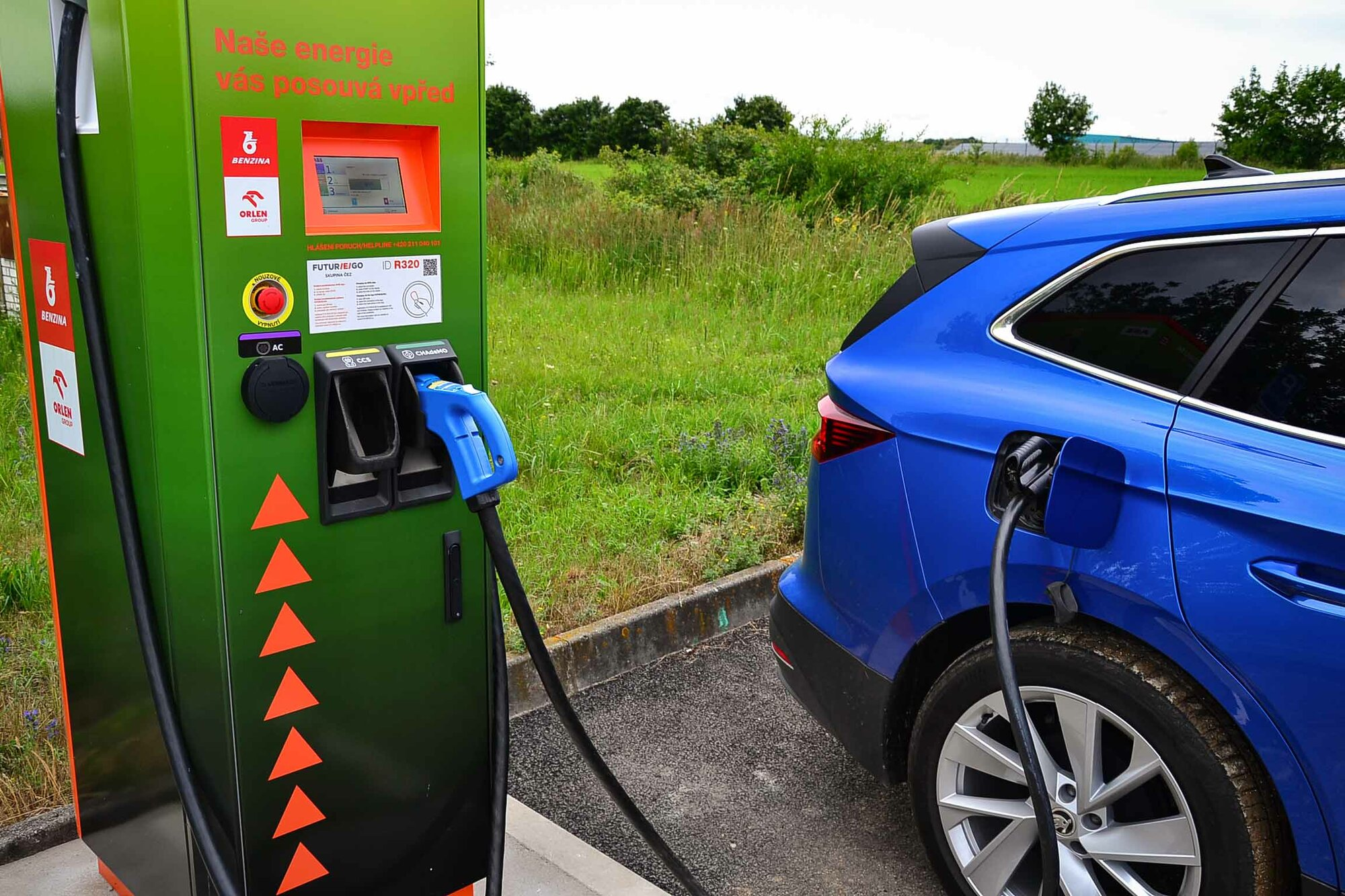 50 kW nabíječka ČEZ