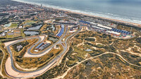 Letecký pohled na okruh v Zandvoortu