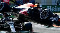 Kolize Maxe Verstappena s Lewisem Hamiltonem