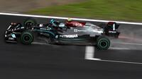 Valtteri Bottas za deště v závodě v Turecku