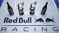 Tým Red Bull se svými trofejemi po úspěšném závodě v Turecku